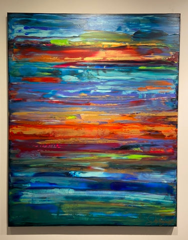Colorful Abstract Sunset Painting