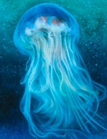 Jellyfish Series 2 D - Original Oil Painting