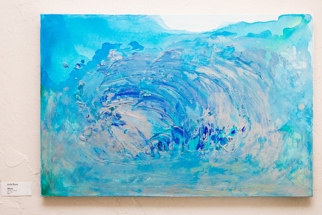 Wave by Julia Ross Acrylic on Canvas