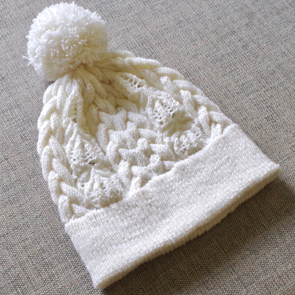 """Sweet Sixteen"" cable and lace hat"