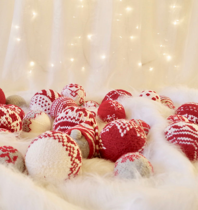 Christmas knitting pattern set - 5 Christmas stockings + 29 Christmas baubles LIMITED TIME OFFER