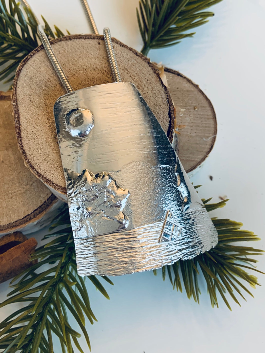 Sail Away With Me Fused Fine Silver Pendant