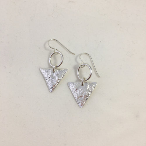 Fused sterling and fine silver earrings