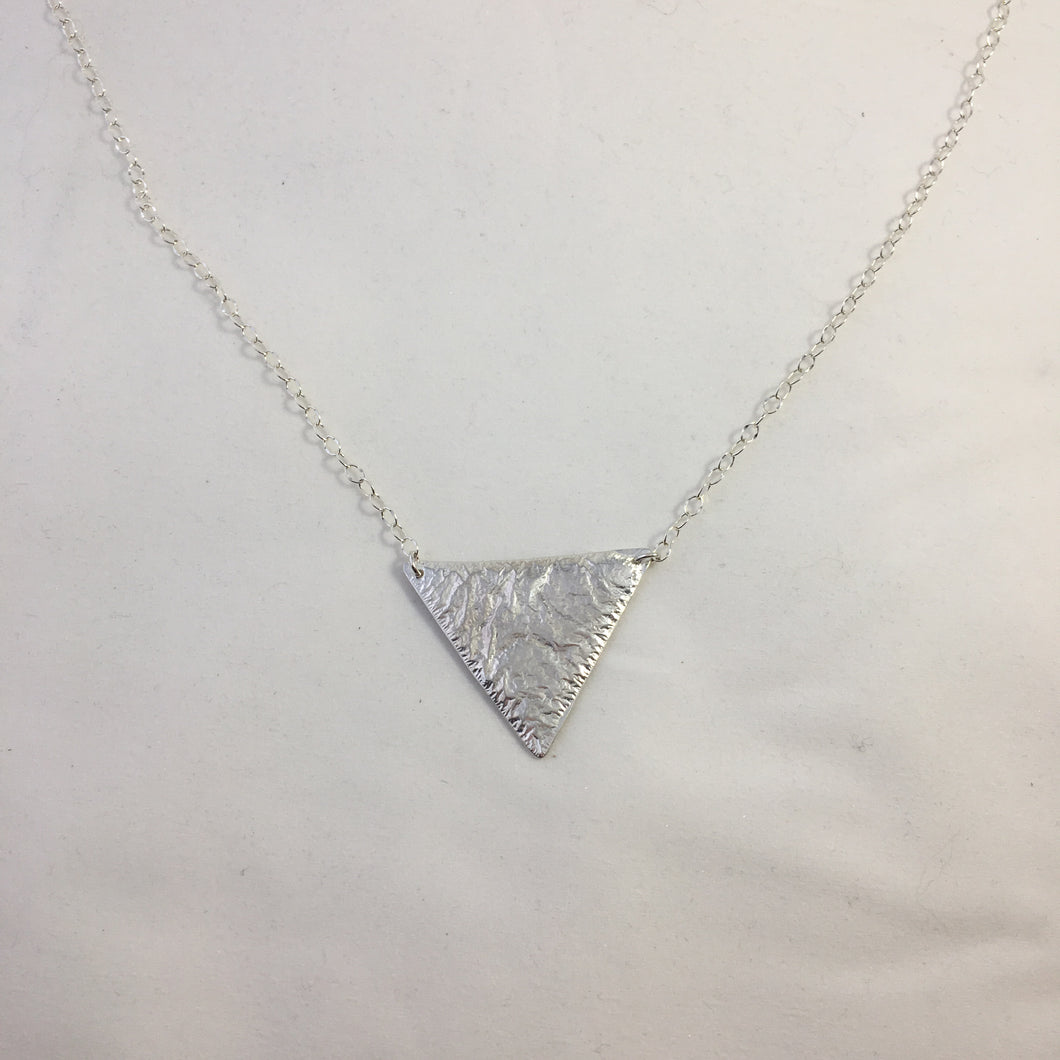 Medium fused triangle necklace