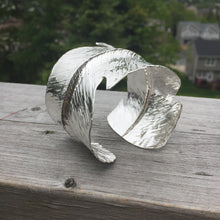 Sterling Silver Feather Cuff (Custom Orders available)