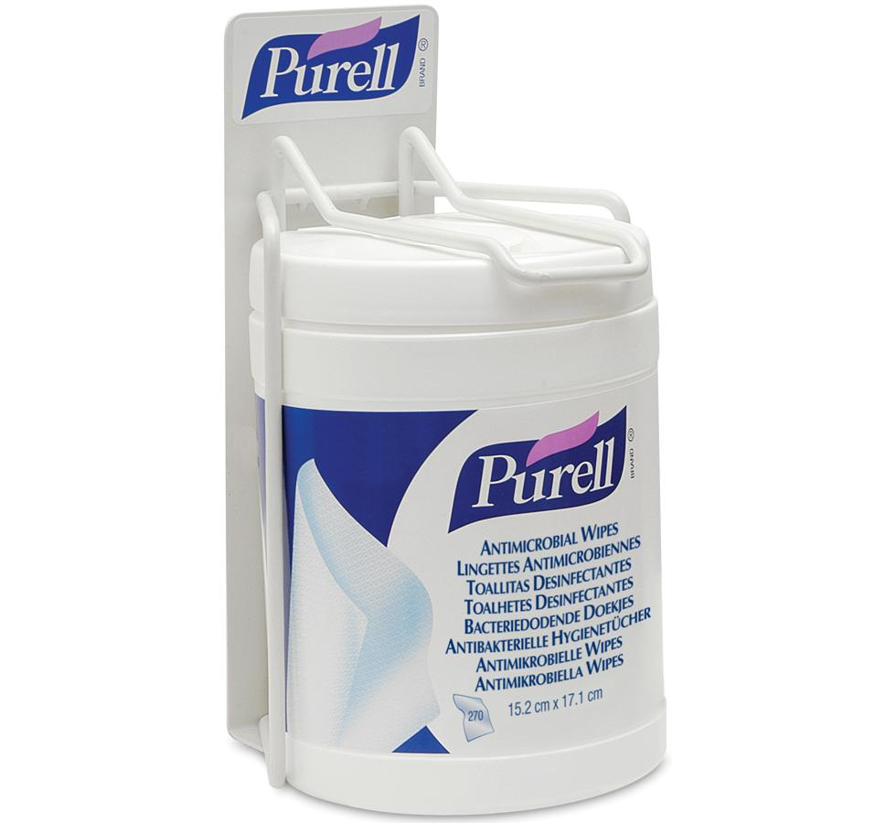 9001-01 PURELL® Antimicrobial Wipes, Single Canister Bracket/Holder