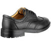 FS44 Amblers Safety Black 4-Eyelet Leather Lined Brogue Safety Shoes - Sentinel Laboratories Ltd