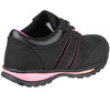 FS47 Amblers Safety Ladies Black Leather Trainers