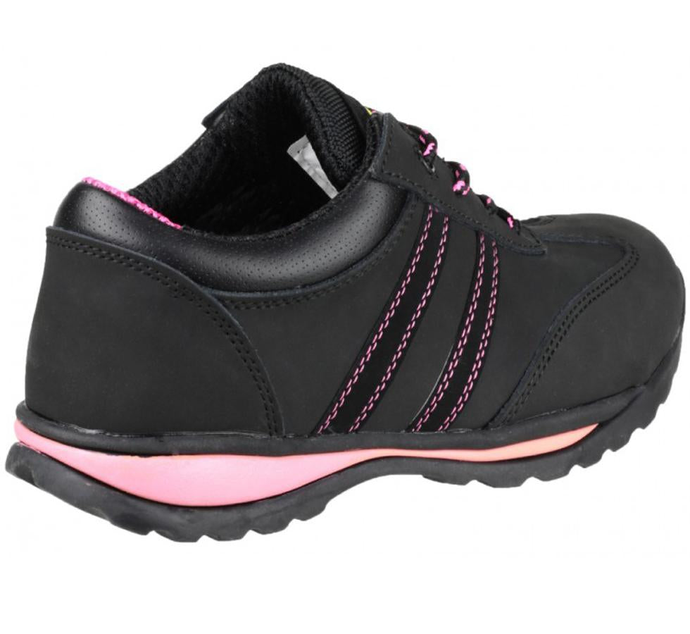 07f6c05b9 FS47 Amblers Safety Ladies Black Leather Trainers | Sentinel ...