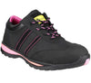 FS47 Amblers Safety Ladies Black Leather Trainers - Sentinel Laboratories Ltd