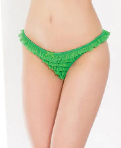Queen One Size - Ruffle Panty - Green