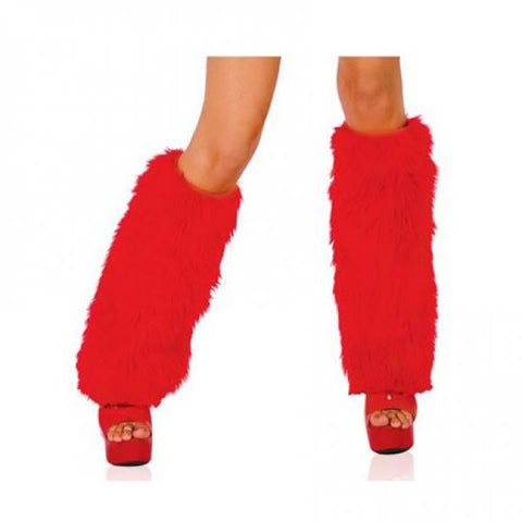 Fur Boot Covers - Red