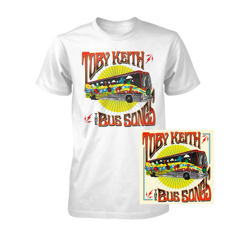 The Bus Songs T-Shirt & CD Bundle