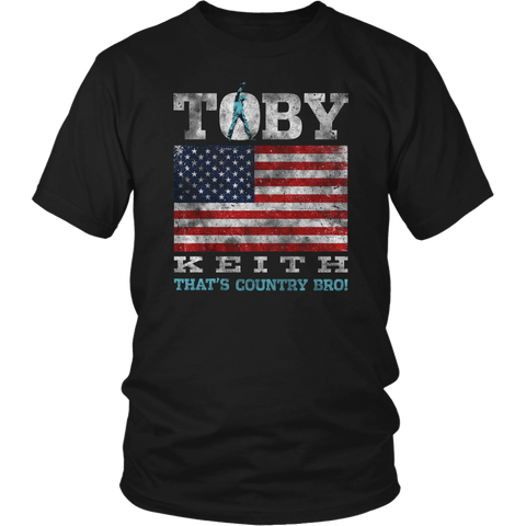 Distressed Flag Adult Black Tee