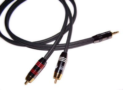 c52e9e7be0a9 3.5mm Male to 2 x RCA Male Premium Audio Cable Adapters
