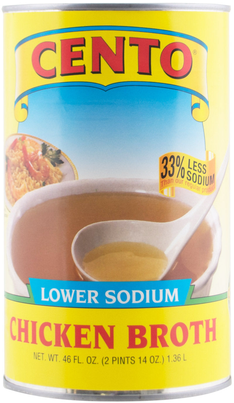 Cento Lower Sodium Chicken Broth 46 OZ