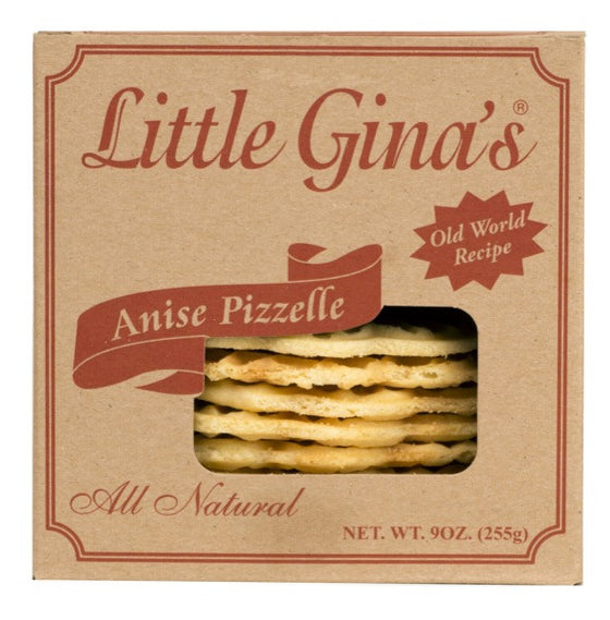 Little Gina's Anise Pizzelle  9 OZ