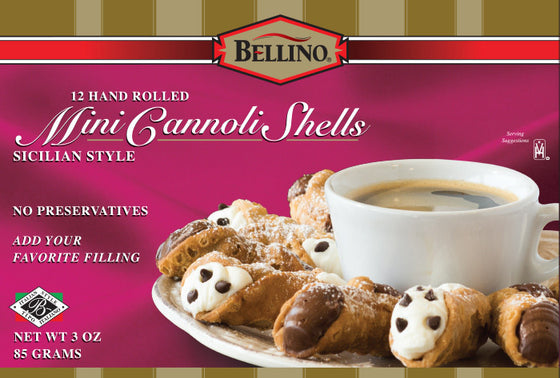 Bellino Traditional Mini Cannoli Shells  12 PK