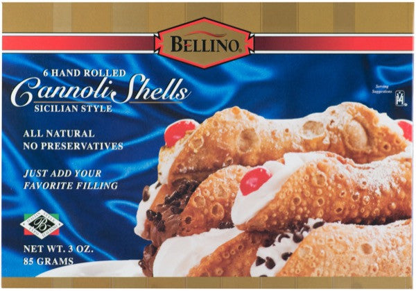 Bellino Traditional Cannoli Shells 6 PK