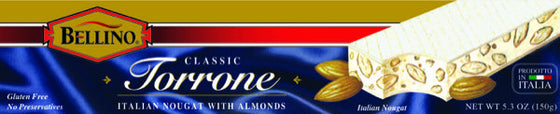 Bellino Hard Torrone Bar  5.3 OZ