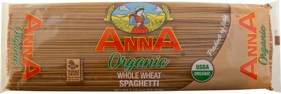 Anna Organic Whole Wheat Spaghetti 1 lb