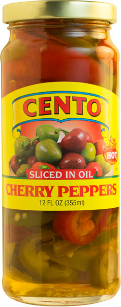 Cento Sliced Hot Peppers in Oil 12 FL OZ