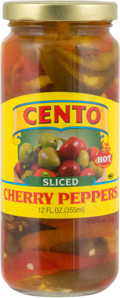 Cento Sliced Hot Cherry Peppers 12 FL OZ
