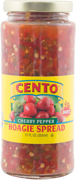Cento Diced Hot Cherry Pepper Hoagie Spread 12 FL OZ