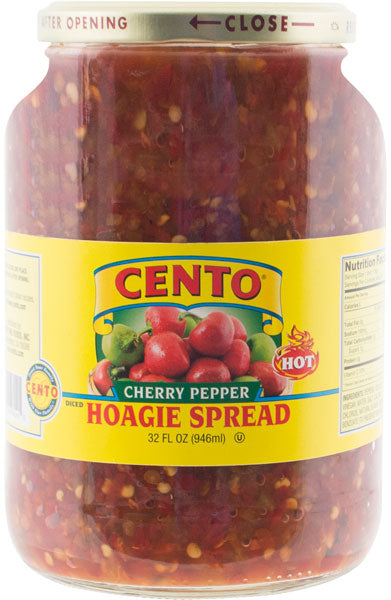 Cento Diced Hot Cherry Pepper Hoagie Spread 32 FL OZ