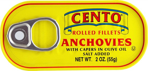 Cento Rolled Fillets of Anchovies 2 OZ