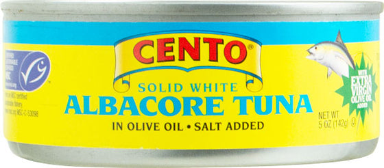 Cento Albacore Tuna Fish with Extra Virgin Olive Oil 5 OZ