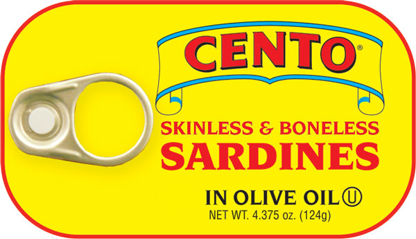 Cento Skinless & Boneless Sardines in Olive Oil 4.375 OZ