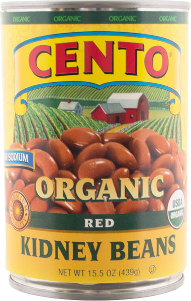 Cento Organic Red Kidney Beans 15.5 OZ