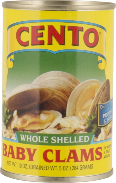 Cento Whole Baby Clams 10 oz