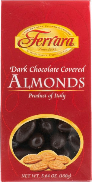 Ferrara Dark Chocolate Covered Almonds  5.64 OZ