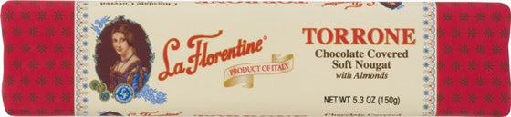 La Florentine Dark Chocolate Covered Soft Nougat with Almonds 5.3 oz