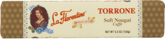 La Florentine Dark Chocolate Covered Caffe Soft Nougat  5.3 OZ