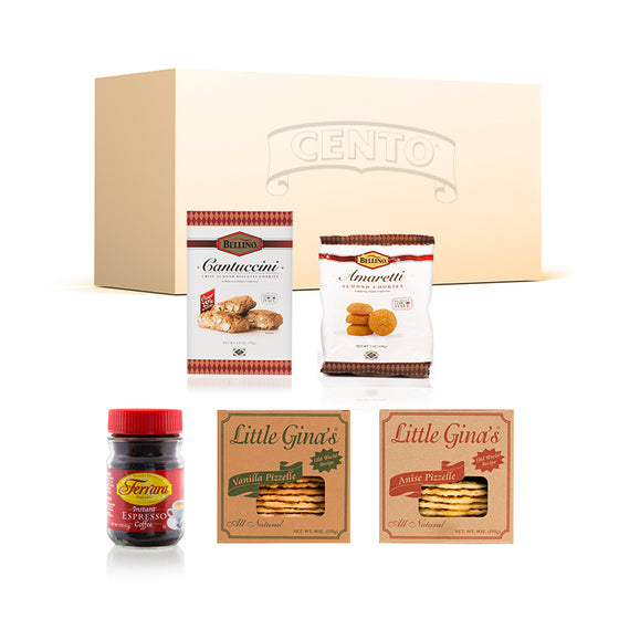 Cento Cookies and Coffee Box - Amaretti, Cantuccini & Pizzelles