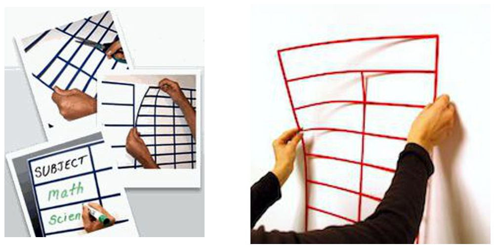 Whiteboard Pre Cut Grid