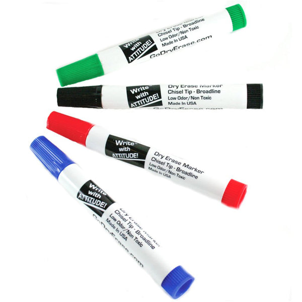 Whiteboard Marker - Chisel Tip - 4 Pack