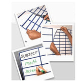 Whiteboard Pre Cut Magnetic or Self Stick Grid - Blue