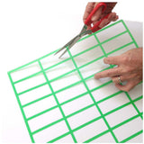 Whiteboard Pre Cut Magnetic or Self Stick Grid - Green