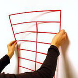 Whiteboard Pre Cut Magnetic or Self Stick Grid - Red