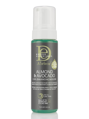 DESIGN ESSENTIALS ALMOND & AVOCADO CURL ENHANCING MOUSSE