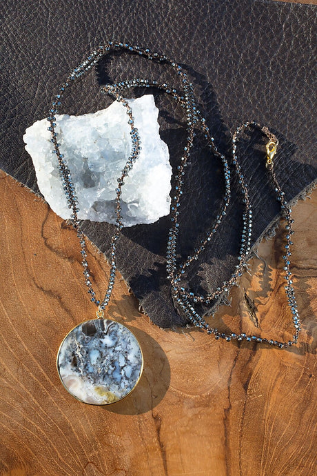 Dendritic Opal Bardot Necklace - Funraise
