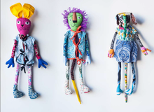 Trio of Bali Bag Dolls - dolls that transform into shoulder bag