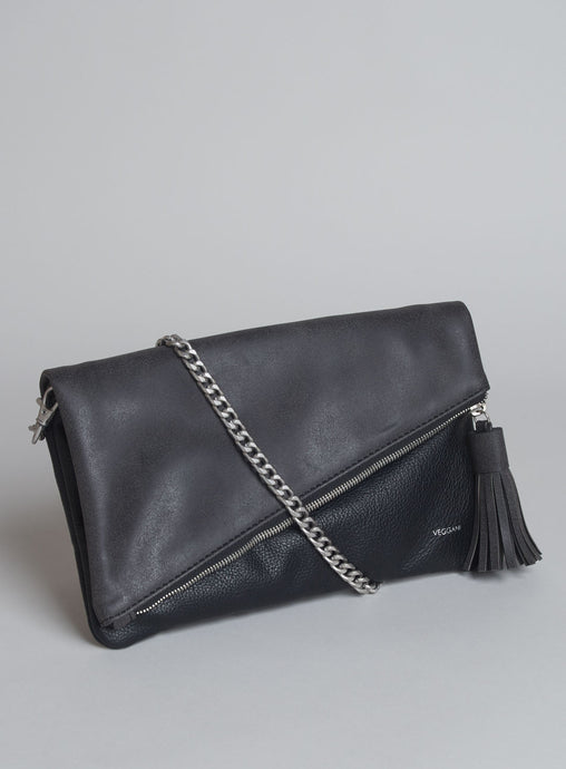 CATT CLUTCH in Black (VEGAN) - Funraise