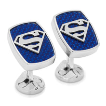 Stainless Steel Carbon Fiber Superman Cufflinks - Funraise