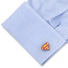 Stainless Steel Blue Superman Shield Cufflinks - Funraise