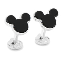 Sterling Silver and Onyx Mickey Mouse Cufflinks - Funraise